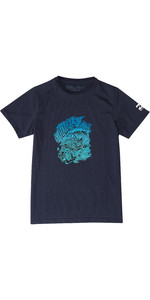 2019 Billabong Junior Boys Surf Angriff Rash Surf Tee Navy N4eq03