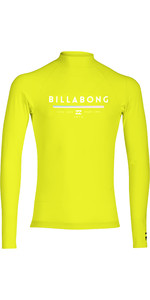 2019 Billabong Junior Boys Unity Long Sleeve Rash Vest Lime N4KY10