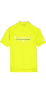 2019 Billabong Junior Boys Unity Kurzarm Rash Vest Lime N4ky07