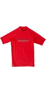 2019 Billabong Junior Boys Unity Short Sleeve Rash Vest Rosso N4KY07