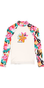 2019 Billabong Junior Girls Flower Langarm Weste Seashell N4ky04