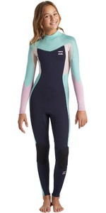 2020 Billabong Junior Girls Synergy 3/2mm Back Zip Wetsuit U43B32 - Navy