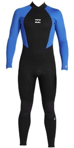 2020 Billabong Junior Intruder 4/3mm Back Zip Gbs Wetsuit 044b18 - Blauw