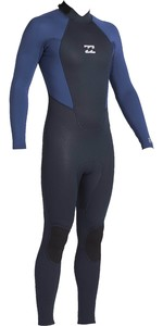 2021 Billabong Junior Intruder 4/3mm Back Zip GBS Wetsuit 044B18 - Navy
