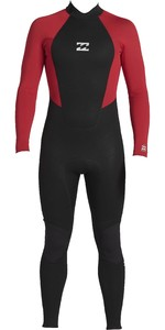 2020 Billabong Junior Intruder 4/3mm Back Zip Gbs Wetsuit 044b18 - Rood