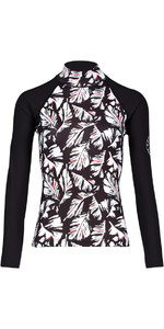 2018 Billabong mujer Flor de manga larga chaleco impetuoso FEATHER BLACK PEBBLE H4GY04