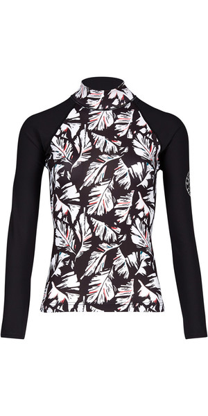 2018 Billabong Ladies Flower Manica lunga a manica lunga FEATHER BLACK PEBBLE H4GY04
