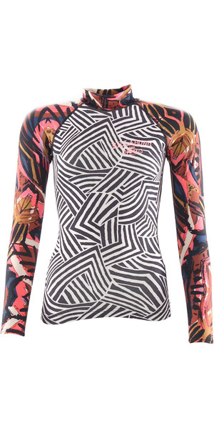 2018 Billabong Damen Surf Capsule Long Sleeve Rash Weste MULTI H4GY06