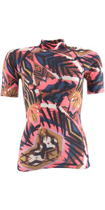 Billabong Womens Surf Capsule Rash Vest manica corta TRIBAL H4GY05