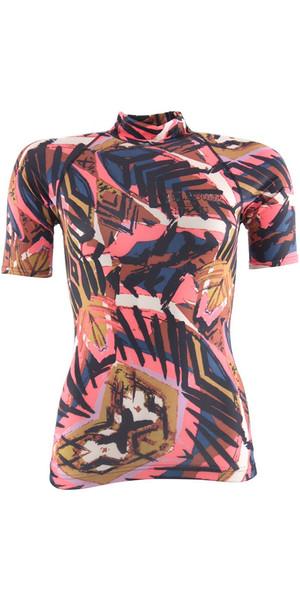 2018 Billabong Ladies Surf Capsule manica corta Rash Vest TRIBAL H4GY05