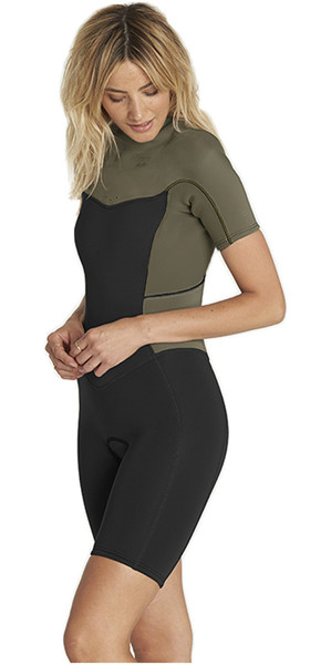 2018 Billabong Womens Synergy 2mm Zip posteriore con muta MOSS H42G04