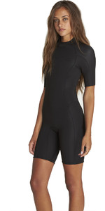 Billabong Kvinders Synergy 2mm Back Zip Shorty Våddragt Sort H42g04