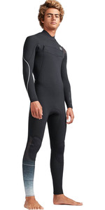 2019 Billabong Heren 3 / 2mm Oven Carbon Comp Borst Zip Wetsuit Zwart Fade N43M02
