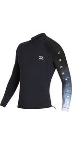 2019 Billabong Giacca Da Uomo 1mm Pro Series Ls Neo Black Fade N41m01