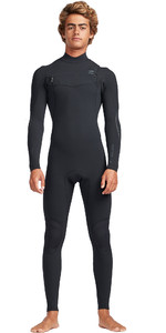 2019 Billabong Mens 2mm Carbon Comp Chest Zip Anzug Schwarz N42m06