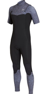 2019 Billabong Mens 2mm Fornalha Absoluto Comp Peito Zip Wetsuit Cinza Urze N42M19