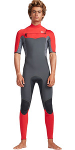 2019 Traje De Neopreno Billabong Hombre De 2mm Furnace Absolute Chest Zip Rojo Gris N42m19