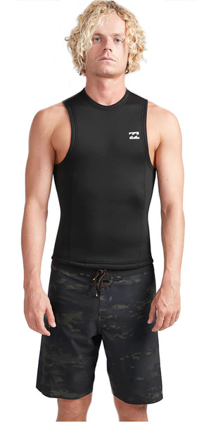 2019 Billabong Hombres 2mm Horno Absolute Neo Chaleco Negro N42M27