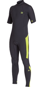 2020 Billabong Mannen Absolute 2mm Back Zip Met Korte Mouwen Gbs Wetsuit S42m66 - Lime