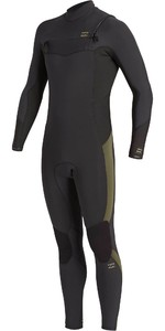 2020 Billabong Mens Absolute 4/3mm Chest Zip GBS Wetsuit U44M60 - Antique Black