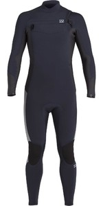 2020 Billabong De Los Hombres Absolute 4/3mm Chest Zip Gbs Wetsuit U44m60 - Navy