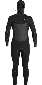 2020 Billabong Absolute 5/4mm Wetsuit Met Chest Zip Capuchon Voor Heren U45M59 - Zwart