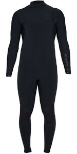 2020 Billabong Heren Zwart Album Furnace Comp 3/2mm Wetsuit Met Chest Zip S43M60 - Zwart