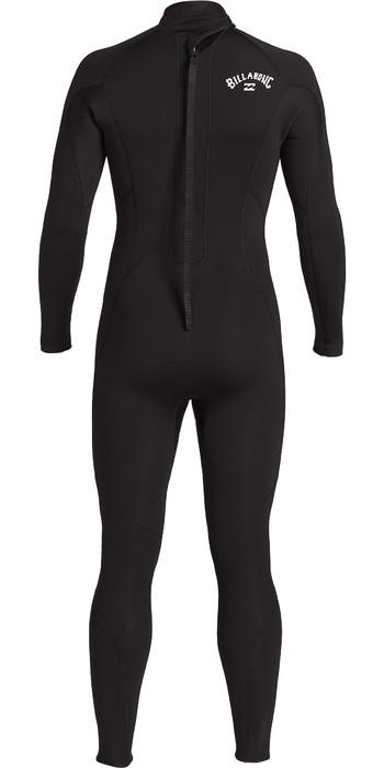 2021 Billabong Mens Foil 3/2mm Back Zip GBS Wetsuit ABYW100142 - Black