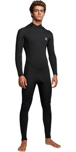 2019 Billabong Hommes Furnace Absolute 4/3mm Back Zip Combinaison Q44m10 Noir