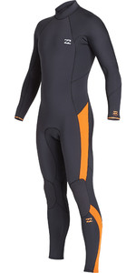 2019 Billabong Mens Furnace Absolute 4/3mm Back Zip Wetsuit Schwarzen Sand Q44m10