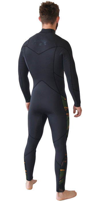 2019 Billabong Mens Furnace Absolute 5/4mm Chest Zip Wetsuit Camo Q45M90