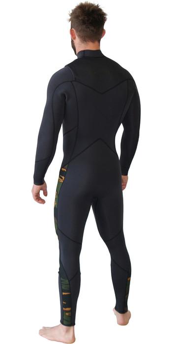 2019 Billabong Mannen Furnace Absolute 5/4mm Chest Zip Wetsuit Camo Q45m90
