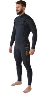 2019 Billabong Homens Furnace Absolute 4/3mm Chest Zip Wetsuit Camo Q44m90