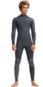 2019 Billabong Mens 4 / 3mm Ofen Carbon Comp Brust Zip Wetsuit Schwarz Sands N44M01