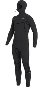2020 Traje De Neopreno Con Capucha Y Chest Zip Billabong Furnace 6/5mm Hombre U46m50 - Negro