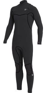 2020 Billabong Mannen Furnace 4/3mm Chest Zip Wetsuit U44m51 - Zwart