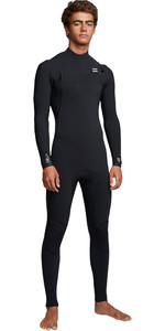 2019 Billabong Hombres Furnace Comp 4/3mm Traje De Neopreno Con Chest Zip Negro Q44m03