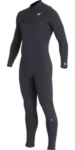 2019 Billabong Mannen Furnace Comping 5/4mm Chest Zip Wetsuit Zwart Q45m04