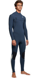 2019 Billabong Hombres Furnace Comp 4/3mm Traje De Neopreno Con Chest Zip Azul Q44m03