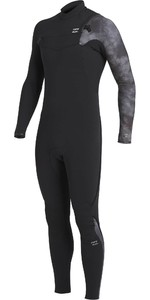 2020 Billabong Mens Furnace Comp 5/4mm Chest Zip Wetsuit U45M53 - Black Tie Dye