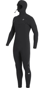 2020 Billabong Dos Homens Furnace Comp Encapuzados 4/3mm Chest Zip Wetsuit U44m53 - Preto