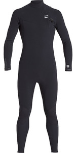2019 Billabong Mens Furnace Comp 4/3mm Zipperless Anzug Schwarz Q44m05