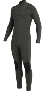 2020 Billabong Mens Furnace Natürliche 4/3mm Zipperless Wetsuit U44m50 - Black Moss