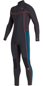 2020 Billabong Mannen Furnace Revolutie 4/3mm Chest Zip Wetsuit S44m51 - Antiek Zwart