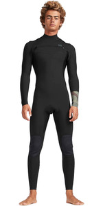 2019 Billabong Heren 4/3mm Furnace Revolutie Chest Zip Wetsuit Camo N44m02