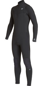 2019 Billabong Mannen Furnace Revolutie 4/3mm Chest Zip Wetsuit Zwart Q44m07