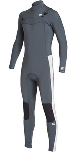 2019 Billabong Mannen Furnace Revolutie 5/4mm Chest Zip Wetsuit Gunmetal Q45m06