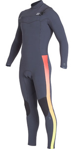 2019 Billabong Mannen Furnace Revolutie Pro 4/3mm Chest Zip Wetsuit Vervaagde Q44m06