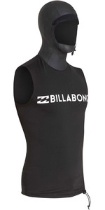 2019 Billabong Mænds Furnace Termisk Hætte Vest Sort Q4py06