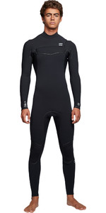 2019 Billabong Mens Furnace Ultra 5/4mm Chest Zip Wetsuit Black Q45M02
